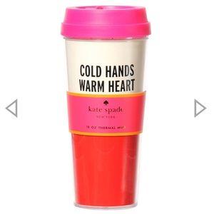 KATE SPADE Cold Hands Warm Heart Thermal Mug